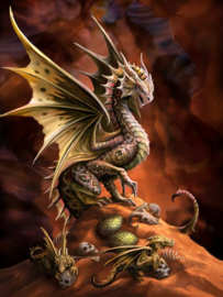 Anne Stokes - Desert Dragon - 30 x 40cm 3Dprint