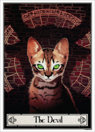 Mini poster - Deadly Tarot Felis - The Devil