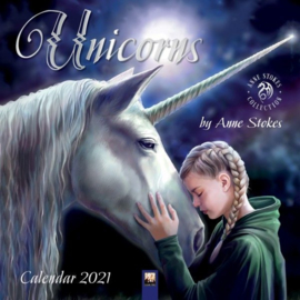 Anne Stokes kalender 2021 - Unicorns