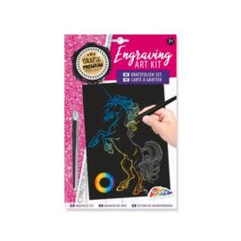 Engraving art kit - Unicorn - Grafix