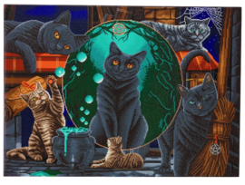Crystal Art Kit - Magical Cats Montage - Lisa Parker