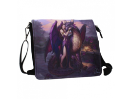 Embossed shoulder bag - Dragon Sanctuary - James Ryman