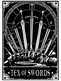 Mini poster - Deadly Tarot - Ten Of Swords