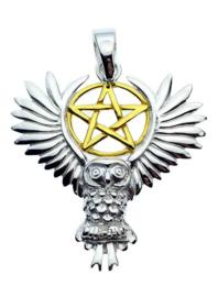 Owl Pentagram - Sterling Zilver - Lisa Parker