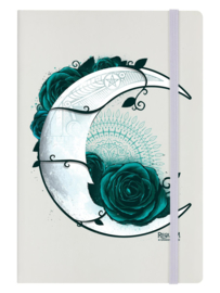 Notitieboek - Moon with Rose - A5