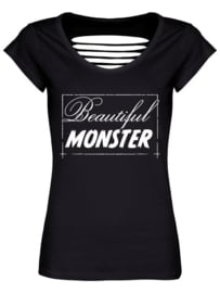 Ladies T-shirt - Beautiful Monster  - Razor Back