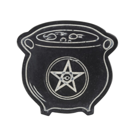 Cauldron with Pentagram - Wierookhouder