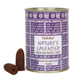 Goloka - Lavender - backflow incense cones