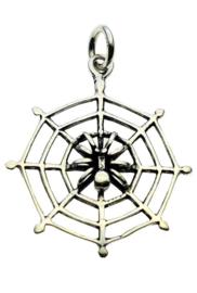 Spider on Web hanger - Sterling Zilver