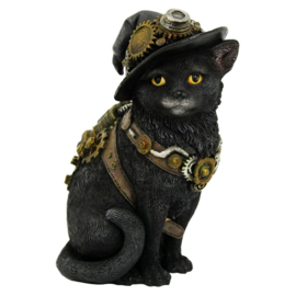 Beeld - Clockwork Kitty - Steampunk