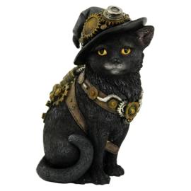 Beeld - Clockwork Kitty - Steampunk