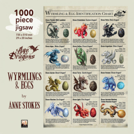 Puzzel - Wyrmlings & Eggs - Anne Stokes