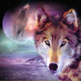Diamond painting - Moon Wolf