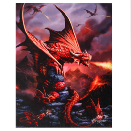 Canvas - Fire Dragon - Anne Stokes