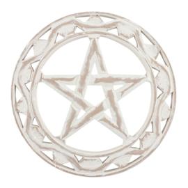 Wandornament - Pentagram -  Hout