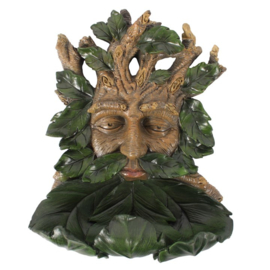 Green Man bird feeder 34cm - wanddecoratie