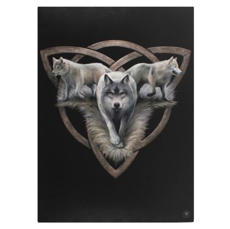 Canvas 50x70cm  - Wolf Trio - Anne Stokes