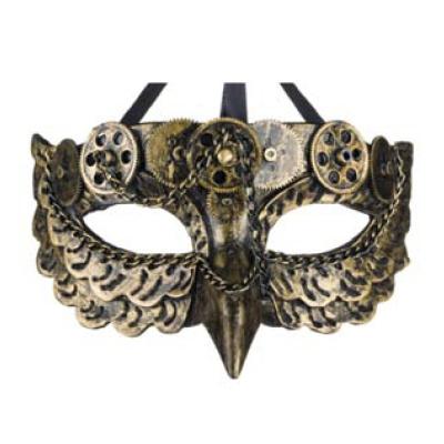 Steampunk masker - Chain Owl
