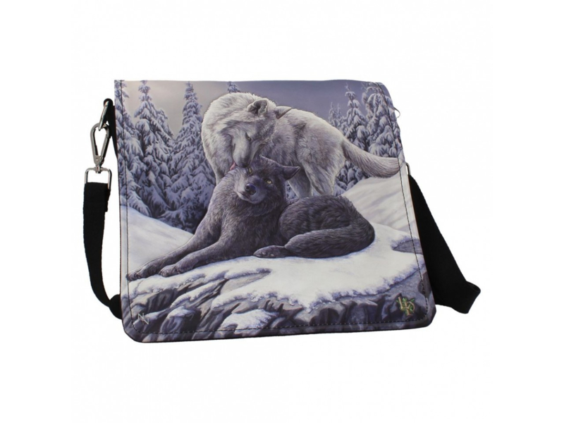 Embossed shoulder bag - Snow Kisses - Lisa Parker