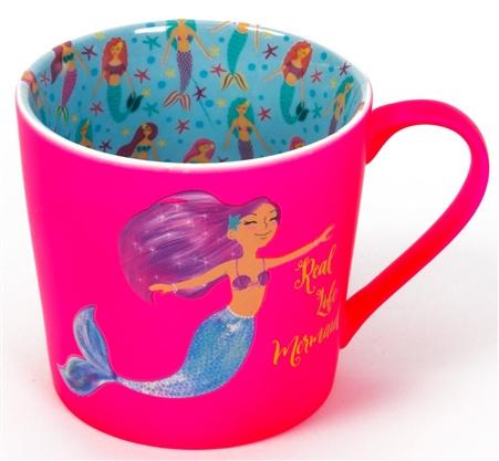 Roze Mermaid mok