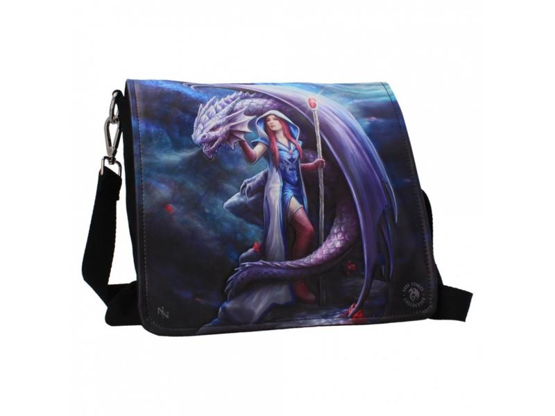 Embossed shoulder bag - Dragon Mage - Anne Stokes
