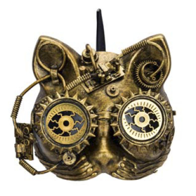 Steampunk masker - Steam-Cat