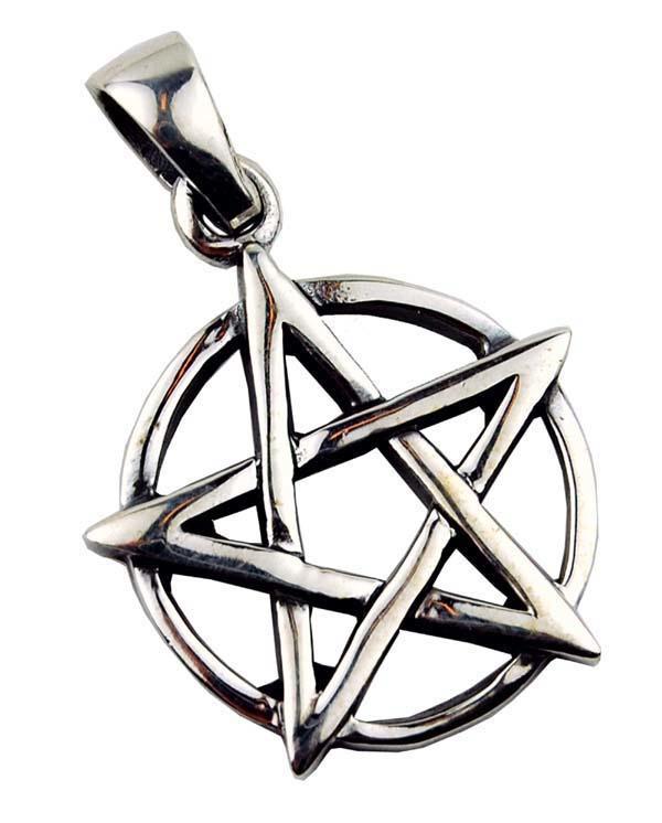 Pentagram hanger - Sterling Zilver