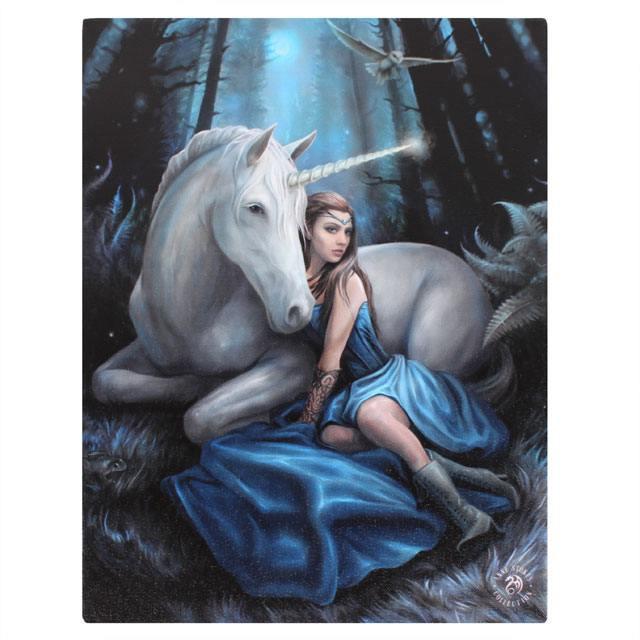 Canvas - Blue Moon - Anne Stokes