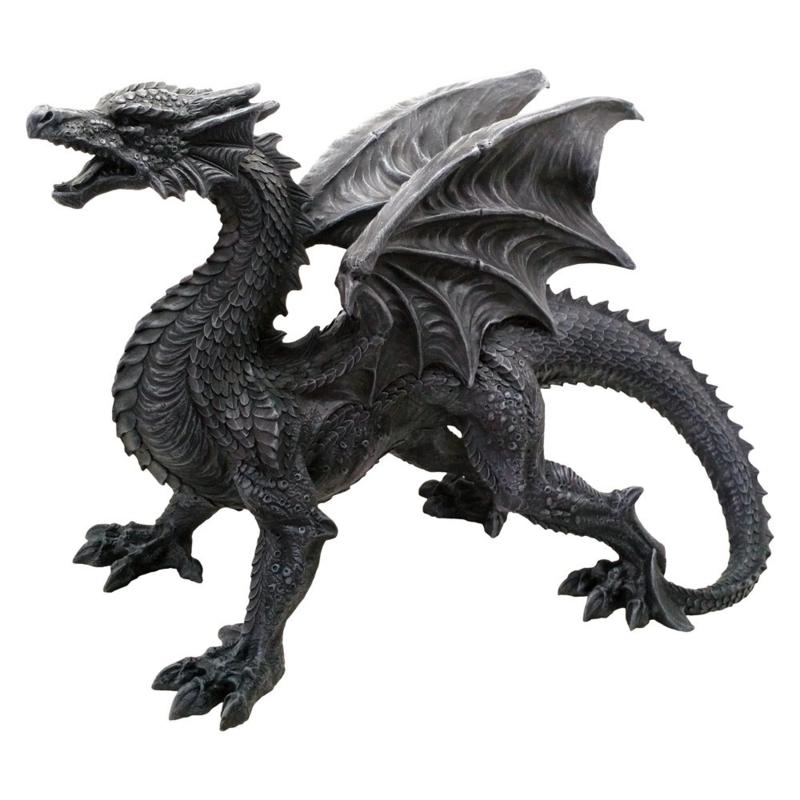 Beeld - Dragon Watcher - 49cm