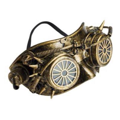 Steampunk masker - Steam Wheel