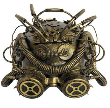 Steampunk masker - Dark Cyber Mind