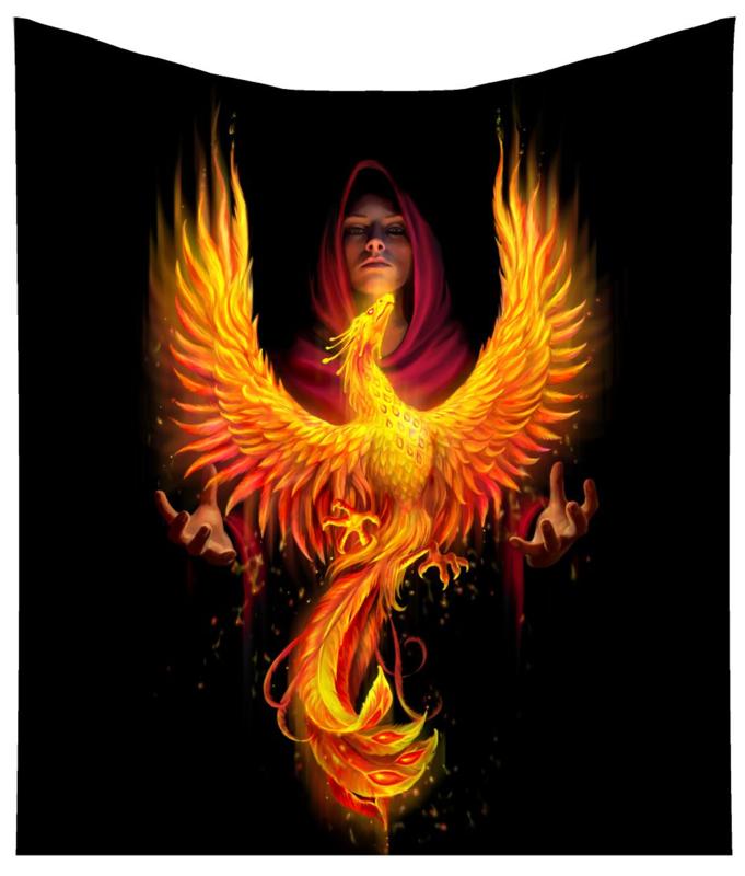 Fleece deken - Phoenix Rising - Anne Stokes