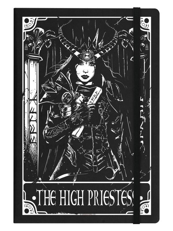 Notitieboek - Deadly Tarot - The High Priestess - A5