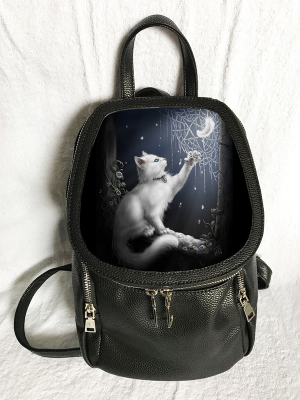 3D Rugtas - Snow Kitten - SheBlackDragon