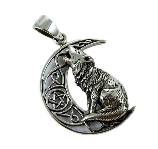 Moon Gazing Wolf - Sterling Zilver - Lisa Parker