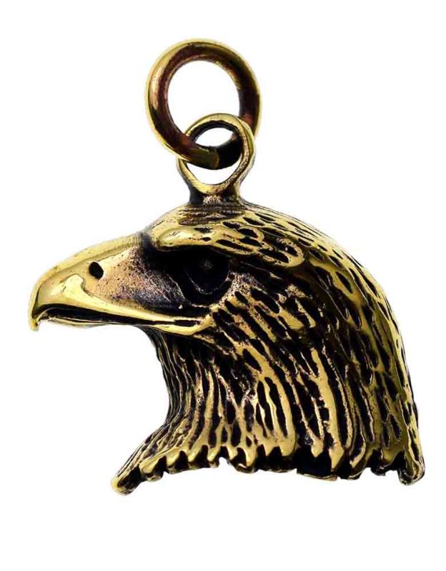 Eagle Head - hanger - Brons