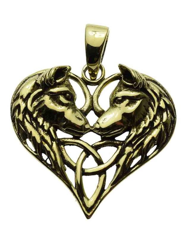 Wolves Heart - Bronzen hanger - Lisa Parker