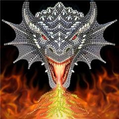 Crystal Card Kit - Dragon Fire Head - Anne Stokes