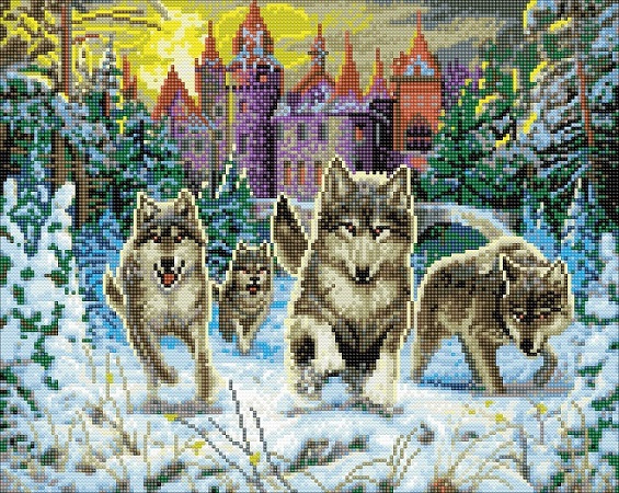 Diamond painting - Running Wolves - Craft Buddy ®