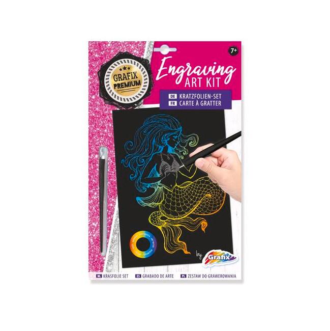 Engraving art kit - Mermaid - Grafix
