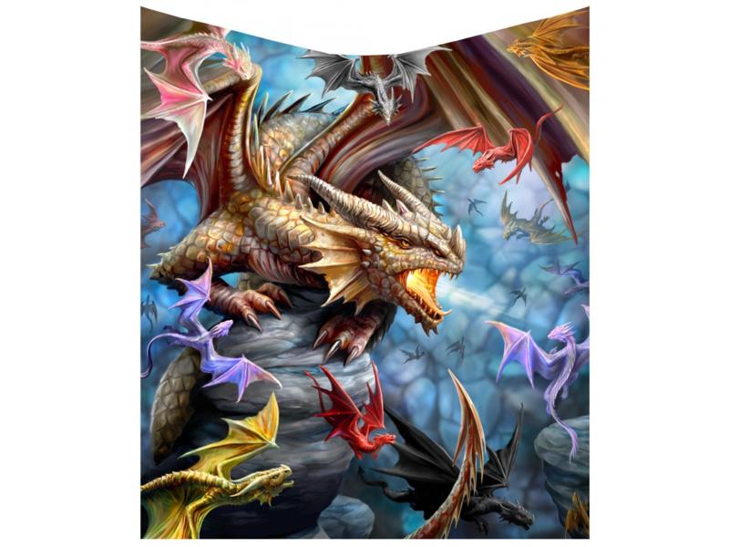 Fleece deken - Dragon Clan - Anne Stokes