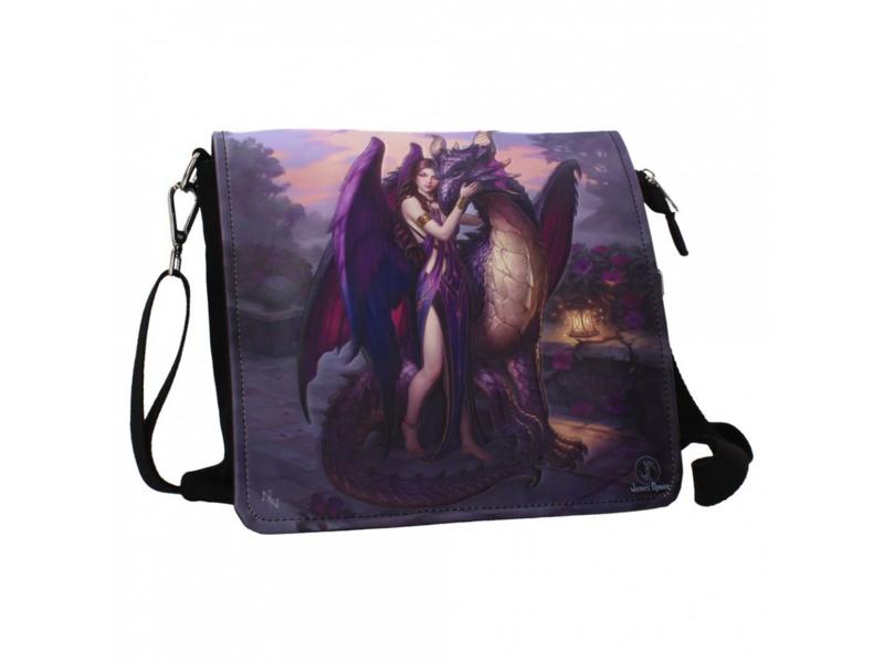 Embossed shoulder bag - Dragon Sanctuary - James Ryman