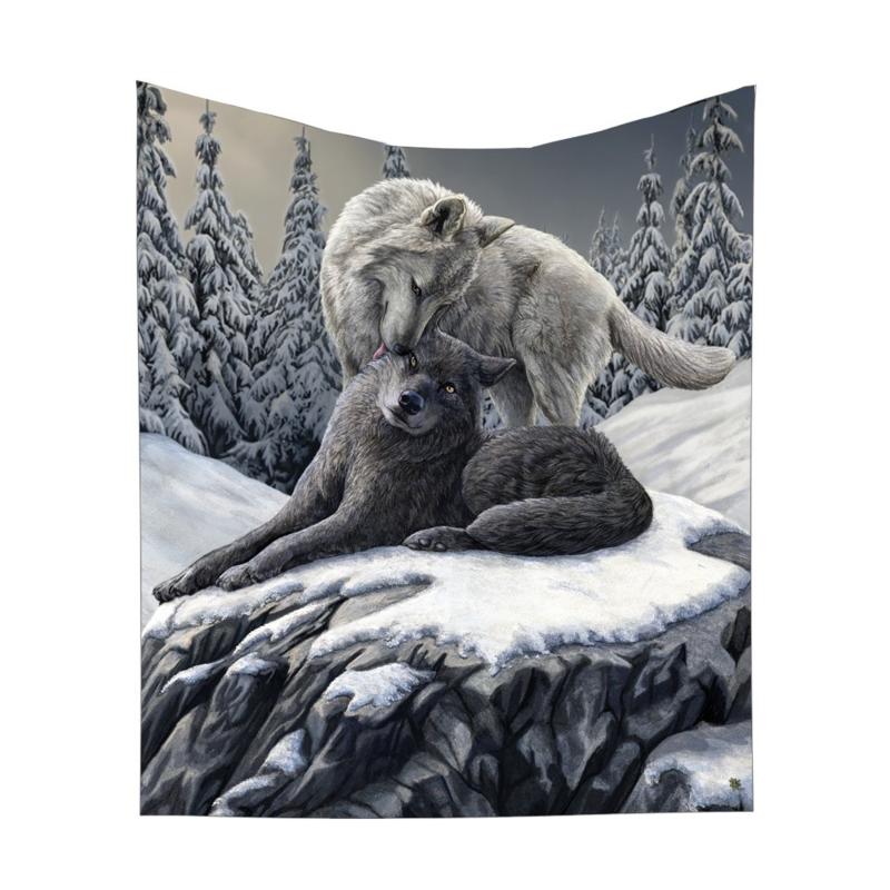 Fleece deken - Snow Kisses - Lisa Parker