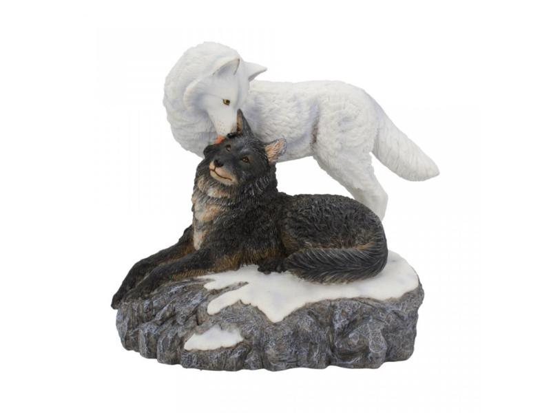 Lisa Parker beeld - Snow kisses - 20,5 cm