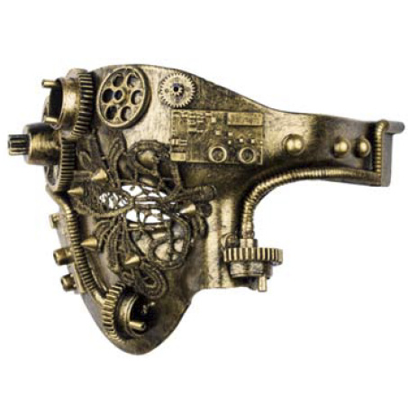 Steampunk masker - Tekno Wheel