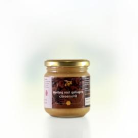 Honing met geraspte citroenschil 250 gram