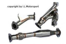 Mazda MX5  MX-5 NB Uitlaatspruitstuk 4-1 Met 200 Cel Racekat I.L.Motorsport