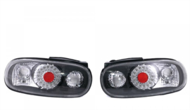 Mazda MX 5 MX-5 NA Rear light set black with LED ring