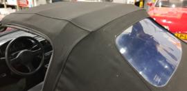 Mazda MX5 MX-5 NA/NB/NBFL Cabriokap ZWART Softtop Stof (plastic ruit) Gebruikt op frame