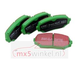 Remblokken set EBC Greenstuff voorzijde Mazda MX-5 NBFL met Sportpakket (voor 270 mm remschijven)